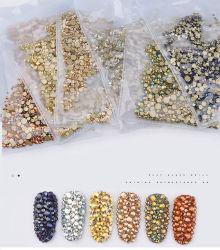 Comercio al por mayor Crystal Estrás para las uñas de acrílico de diamantes