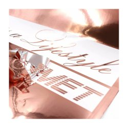 Золотая пленка Anolly Rose/хромированная пленка/глянцевая самоклеящаяся пленка Виниловая / металлическая пленка / декоративно-декоративная пленка