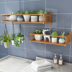 Natural flutuante paredes de bambu Prateleira Flores Venda quente na parede