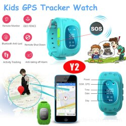 Écran OLED de vente chaude Kids Smart GPS Tracking Watch pris en charge de l'arrêt à distance Y2