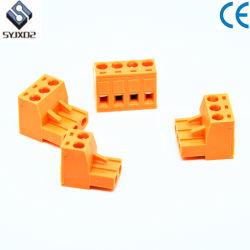 プラグイン可能な端子ブロックの男性および女性をワイヤーで縛る黄色いEdg5.08mmピッチワイヤー