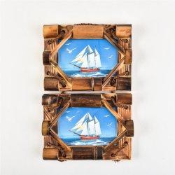 Natürliche Handwerk Fotorahmen Geschenk Wohnzimmer Dekoration