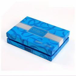Cosmétiques de luxe à l'intérieur en plastique bleu titulaire Papier de cadeau Emballage