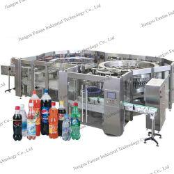 Bebidas Carbonatadas automática de linha de engarrafamento da cerveja artesanal de garrafa pet ou Enchimento de garrafas de vidro e Seamer máquina de enchimento de líquido de embalagens para bebidas