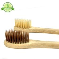 Setole in carbone naturale spazzolini da denti in bambù