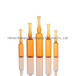 10ml (1920 PCS/CTN) produtos farmacêuticos e âmbar claro vazio ampolas de vidro para Injecção