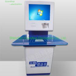 De naar maat gemaakte OEM Kiosk van de Informatie van de Bibliotheek met RFID voor Borrow en de Terugkeer van het Boek