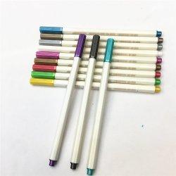 12 indicatori metallici della penna di colore di colori impostati per il rifornimento della cancelleria dell'ufficio di banco