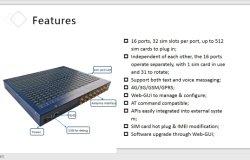 Modem del modem Pool/SMS della porta 128 SIM GSM di rotazione 16 della scheda di SIM