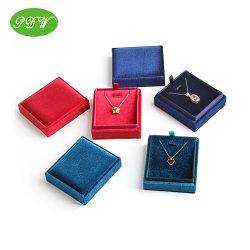 Colar de veludo populares Caixa de anel de jóias caixa de exibição com o Melhor Preço