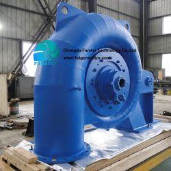 A Usina de Água hidro-turbina com painel de controlo