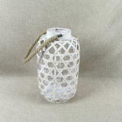 Linterna decorativos con materiales de bambú Portavelas ideales para