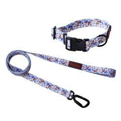 Custom Design personalizado padrão ajustável colares de cão de nylon e Cordinhas