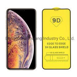 La calidad de la fábrica de 9h tapa completa teléfono móvil 9d vidrio templado Protector de Pantalla en Vivo