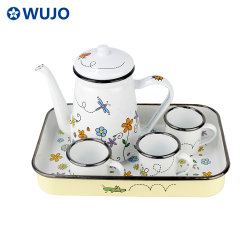 Pequeña Tetera Camping Wujo esmalte esmalte olla de leche Café Taza y cafeteras para niños