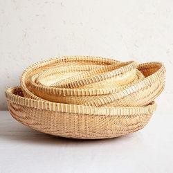 De natuurlijke Container van de Opslag van het Bamboe van de Manden van het Bamboe van het Bamboe Wevende