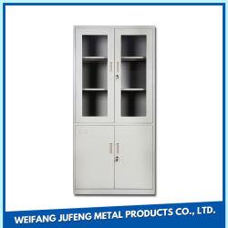 Mobiliário de escritório de aço estante de livros 2 Gire a porta para armário de arquivos de metal de armazenamento de arquivos