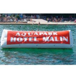 Publicité de plein air gonflable Triangle de l'événement de l'eau de la bouée Logo pour la vente de panneaux