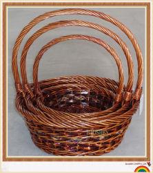 고리 버들 세공 버드나무 등나무 Handmade 바구니