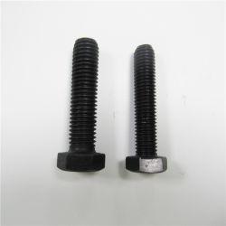Kohlenstoffstahl-Grad 4.8 6.8 8.8 10.9 DIN933 Unc schwarze Hex Kopf-Schraube