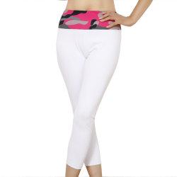 Торговая марка фитнес-Legging Культуризм женских спортивные брюки черный/серый спортивной одежды