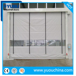 El apilamiento de tipo plegable de tela de PVC de alta velocidad de obturación rápida rodillo puerta rápida
