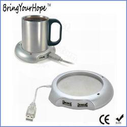 Conector mini USB Cup Warmer con 4-Port Hub (XH-UWH-001).