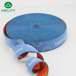 Vente chaude en nylon tissé sangle élastique Jacquard bleu