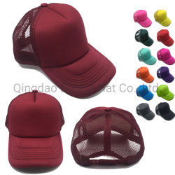 Commerce de gros de la mousse blanche camionneur de maillage des casquettes de baseball des chapeaux de sport