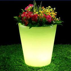 Fonctionne sur batterie partie lumières LED RVB Meubles table Pot de fleurs en plastique pour la vente