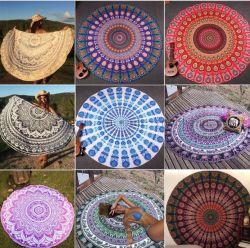 Aangepast Nieuw Product Ronde Strandhanddoek Pareo