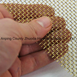 Armure toile en laiton de tissu de fil de pente fine brute lourde de la Chine