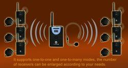 Горячая продажа разрешения FCC CE беспроводная система туристических раций портативного устройства