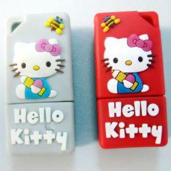 Unidad flash USB personalizados de dibujos animados Cute Hello Kitty USB 128GB 256 GB
