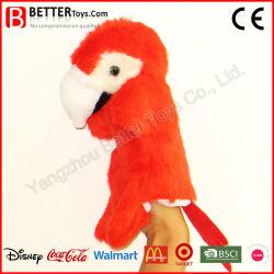 Giocattolo educativo molle del burattino di mano del pappagallo della peluche del fornitore della Cina
