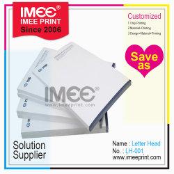 Promoción de la impresión Imee baratos personalizados de papel con membrete impreso