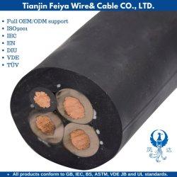 الكابل الناعم للغلاف المطاطي ذو الطبقة المطاطية المتحرك Myp-0.38/0.6kv Copper Mining Mobile