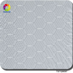 Tsautop 0.5/1m de largeur hexagone+Silver Film Hydro en fibre de carbone de trempage pour Hydro à la maison de trempage