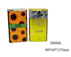 500 ml de aceite vegetal orgánica latas de metal