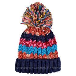 Étoffes de bonneterie laides Multi Mode couleur Pompom Beanie Hat chaud