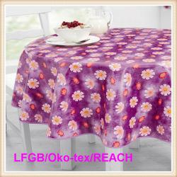PVC/PEVA impermeabile Printed Tablecloth con Flannel Backing (TJ0280)