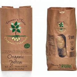 2kg 9kg Aardappel die de Zakken van de Zakken van het Document van Kraftpapier met Netto Venster verpakken