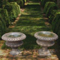 Стороны резного сад декоративные вазы из камня мрамора Flowerpot сеялки