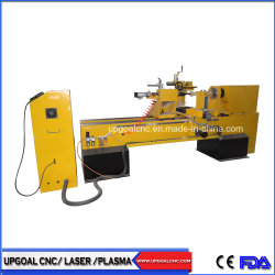 CNC Wood Lathe Broaching Engraving Machine with Single Axis Double Blades