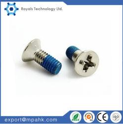 Précision en acier inoxydable de 1 mm Micro vis à tête plate de la machine