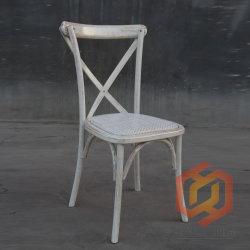 ブナのカシのイベントの食事のための木の十字の背部藤の椅子