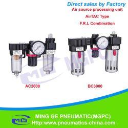 Регулятор воздушного фильтра и масленка сочетание источника воздуха обращения (Ф. Снятие L AC, BC Airtac типа)
