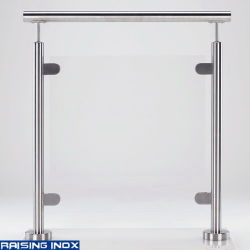 En acier inoxydable main courante pour le pont de verre et balcon
