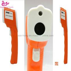 Tipo de arma de infrarrojos sin contacto bebé frente del sensor de temperatura