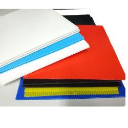 Weißes schwarzes rotes Plastikblatt 1220*2440mm 1.5mm-12mm des Blau-pp. Coroplast